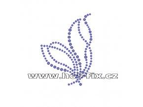 A005-L - hot-fix kamínková aplikace na textil abstraktní vzor, rozm. cca 5,4x7,5cm