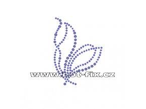 A005-P - hot-fix kamínková aplikace na textil abstraktní vzor, rozměry cca 5,4x7,5cm