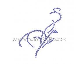 A007 - hot-fix kamínkový zažehlovací potisk na textil abstraktní motiv, rozměry cca 7,6x8,7cm