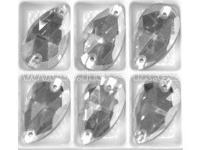slza 13x22mm našívací kámen skleněný barva Crystal .jpg2