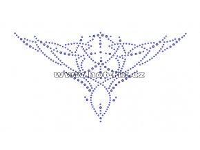 A022 - výstřih nažehlovací hot-fix kamínkový potisk na textil, rozměry cca 21,5x11,3cm