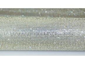 kamínková nažehlovací folie na textil hot fix kameny barva stříbrná Crystal velikost SS8