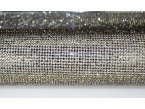 kamínková nažehlovací folie na textil hot fix kameny barva černá kovový efekt Jet hematite velikost SS8