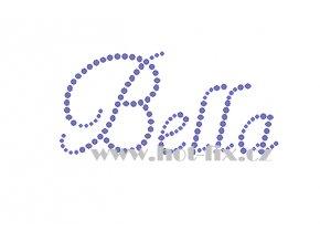 Bella jméno nažehlovací aplikace nažehlovací kamínkový potisk na textil hot fix kameny