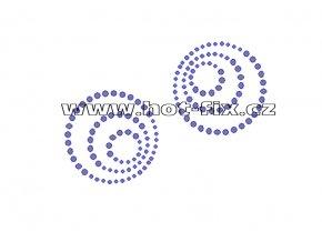 A036 - abstrakt koule hot-fix kamínkový potisk na textil, rozm. cca 9,7x6,9cm