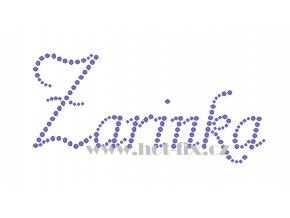 Zarinka jméno nažehlovací aplikace nažehlovací kamínkový potisk na textil hot fix kameny
