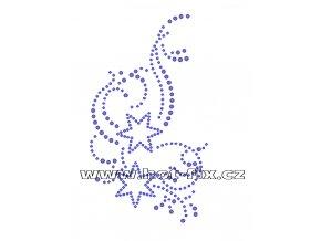 A044 - hot-fix kamínkový potisk na textil abstraktní motiv, rozm. cca 8,1x14,4cm