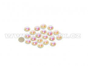 hot fix perla zažehlovací kámen na textil barva perleť bílá velikost 6mm