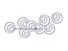 A045 - hot-fix kamínkový potisk na textil abstrakt koule, rozměry cca 23,3x10,3cm
