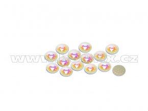 hot fix perla zažehlovací kámen na textil barva perleť bílá velikost 7mm