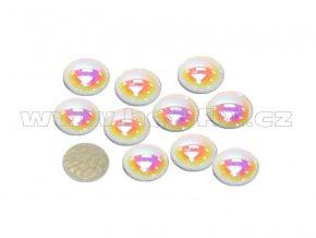 hot fix perla zažehlovací kámen na textil barva perleť bílá velikost 10mm
