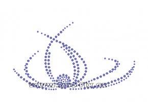 A046 - abstrakt nažehlovací hot-fix kamínková aplikace na textil, rozměry cca 16,0x9,0cm