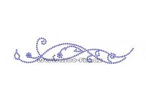 A048-L - abstrakt  nažehlovací hot-fix kamínkový potisk na textil, rozm. cca 15,9x3,5cm