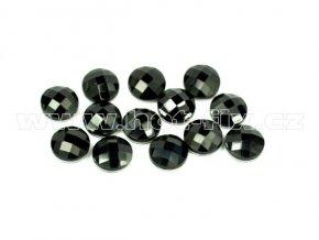 tvarové epoxy hot fix kameny na textil kulaté 8mm barva černá