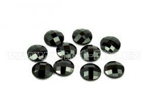 tvarové epoxy hot fix kameny na textil kulaté 10mm barva černá
