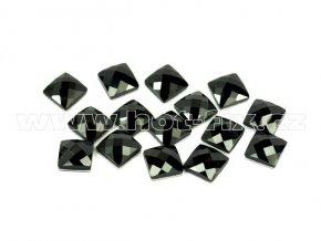 tvarové epoxy hot fix kameny na textil čtverec 7x7 barva černá