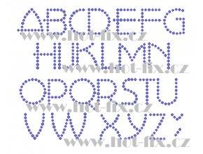 F016 písmena abeceda fonty písma nažehlovací kamínkový potisk na tričko, textil hot fix kameny