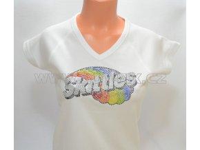 RT2 12 reklamní tričko barevné kamínky Skittles