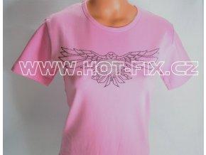 RT4 12 reklamní tričko kovové kameny a fólie vzor harley orel
