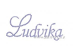 Ludvika nažehlovací aplikace nažehlovací kamínkový potisk na textil hot fix kameny jméno