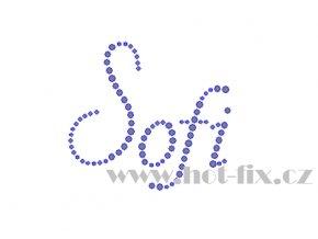 Sofi jméno nažehlovací potisk nažehlovací kamínkový aplikace na textil hot fix kameny