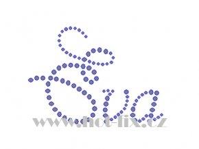 Eva jména nažehlovací potisk nažehlovací kamínkový aplikace na textil hot fix kameny