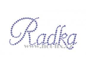 Radka jméno nažehlovací potisk nažehlovací kamínkový aplikace na textil hot fix kameny
