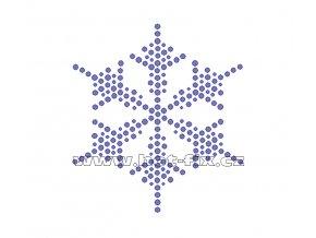 SV054 sněhová vločka nažehlovací potisk na tričko, textil hot fix kameny