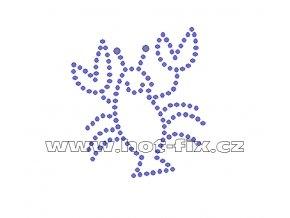 D023 - nažehlovací potisk z hot-fix kamenů ráček, rozm. cca 5,7x6,5cm