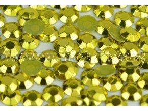 Octagon kovové hot fix kameny na textil barva lime zelená