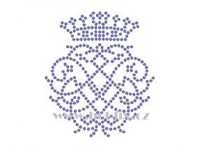 SE013 korunka erb hot fix nažehlovací kamínková aplikace na tričko, textil hot fix kameny