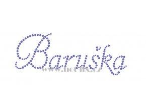 Baruška jméno nažehlovací aplikace nažehlovací kamínkový potisk na textil hot fix kameny