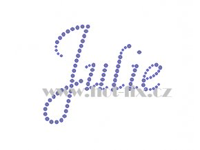 Julie jméno nažehlovací aplikace nažehlovací kamínkový potisk na textil hot fix kameny