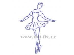 C194 baletka nažehlovací kamínková aplikace na tričko, textil skleněné hot fix kamínky