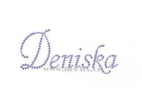 Deniska jméno nažehlovací potisk nažehlovací kamínkový aplikace na textil hot fix kameny