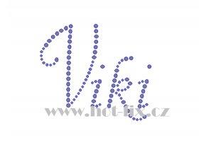 Viki jméno nažehlovací potisk nažehlovací kamínkový aplikace na textil hot fix kameny