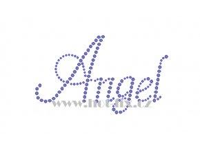 Angel jméno nažehlovací potisk nažehlovací kamínkový aplikace na textil hot fix kameny