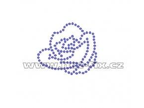 K020 - růže nažehlovací aplikace z hot-fix kamenů, rozměry cca 5,0x4,5cm