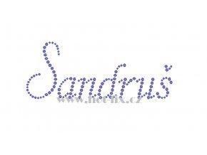 Sandruš jméno nažehlovací potisk nažehlovací kamínkový aplikace na textil hot fix kameny