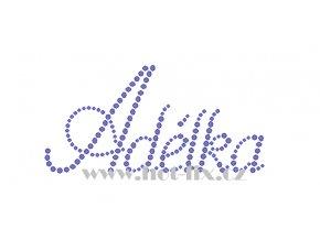 Adélka 12x6 jméno nažehlovací potisk nažehlovací kamínkový aplikace na textil hot fix kameny