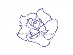 K040 - růže nažehlovací potisk z hot-fix kamenů, rozměry cca 9,2x8,5cm