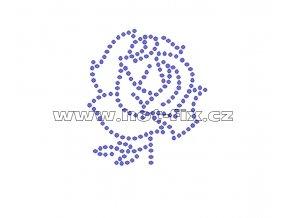 K065 - růže nažehlovací aplikace z hot-fix kamenů, rozměry cca 5,6x6,5cm