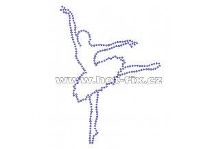 C003 baletka hot fix nažehlovací potisk na tričko, textil hot fix kameny
