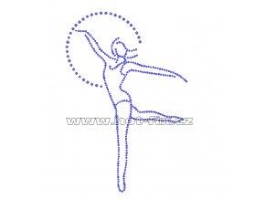 C050 tanec balet hot fix nažehlovací hot fix kamínkový potisk na textil hot fix kameny