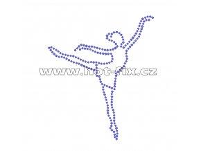 C116 - baletka nažehlovací potisk na textil z hot-fix kamenů, rozměry cca 9,9x11,7cm