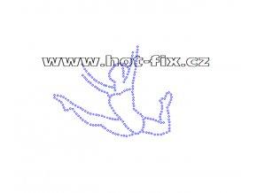 C027 - nažehlovací potisk z hot-fix kamenů gymnastka, rozm. cca 11,6x8,9cm