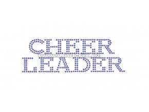 C085 - cheerleader hot-fix kamínková nažehlovací aplikace na textil, rozměry cca 14,0x4,6cm