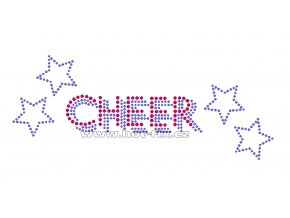 C092 - cheer hot-fix kamínkový nažehlovací potisk na textil, rozměry cca 22,0x8,9cm