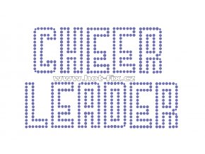 C096 - nažehlovací potisk z hot-fix kamenů cheerleader, rozm. cca 17,0x11,3cm