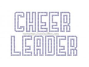 C096 -  cheerleader nažehlovací potisk na textil z hot-fix kamenů, rozměry cca 17,0x11,3cm